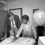 Gladys West explaining her mathematical model of the earth